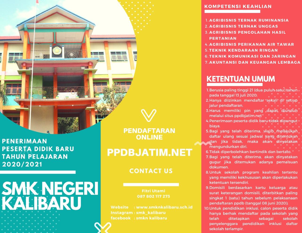 Brosur PPDB JATIM SMKN Kalibaru 2020
