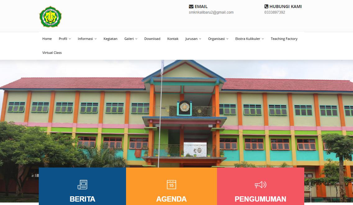 RILIS WAJAH BARU WEBSITE SMK NEGERI KALIBARU